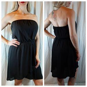 EXPRESS Sexy Strapless Black Dress Size L